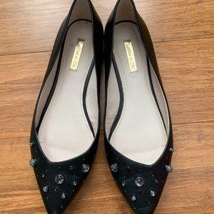 Louise et Cie Size 9.5 Black Embellished Flats
